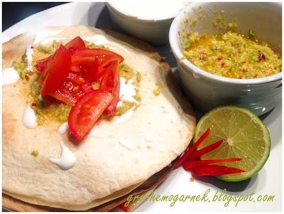 Quesadilla z guacamole przepis