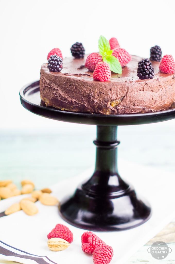 tort czekoladowy dietetyczny bez cukru