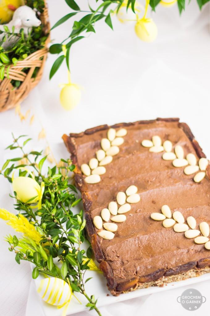 Przepis na mazurka bezglutenowego czekoladowo migdałowego