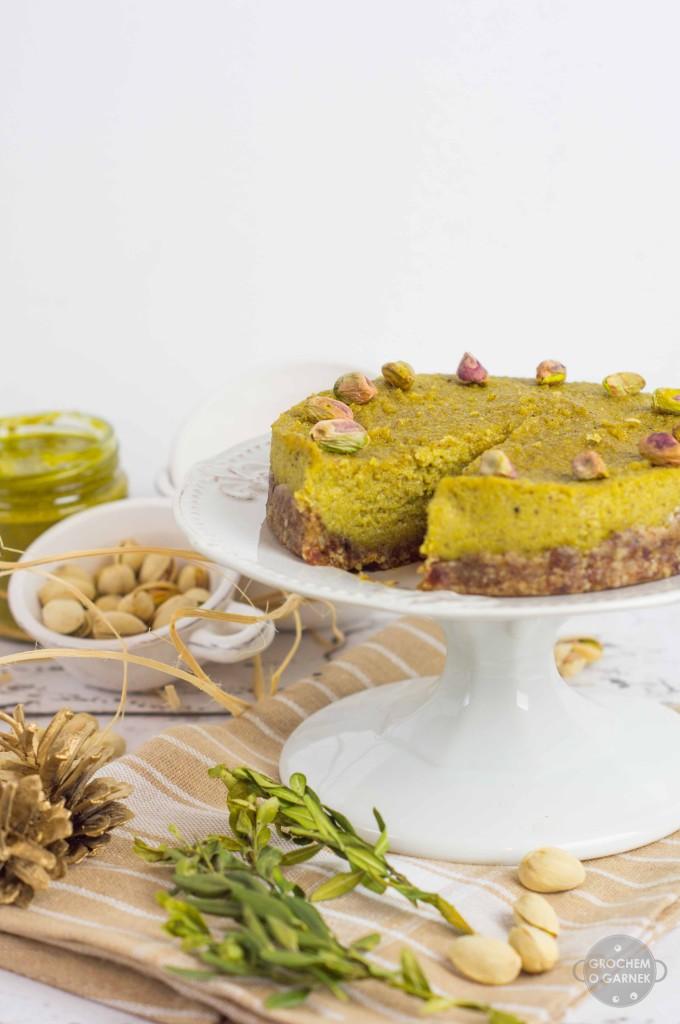 ciasto wegańskie i bezglutenowe pistacjowe