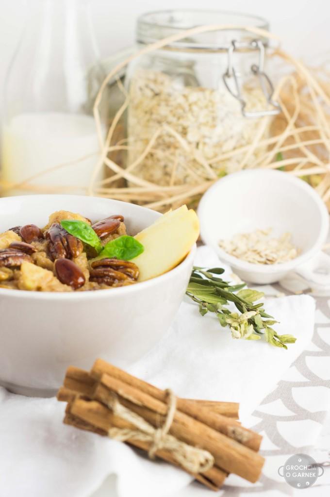 zimowa owsianka orzechowa - zdrowe i szybkie śniadanie
