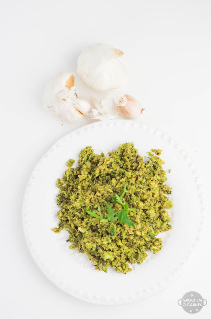 weganski i bezglutenowy obiad - ryz z brokula
