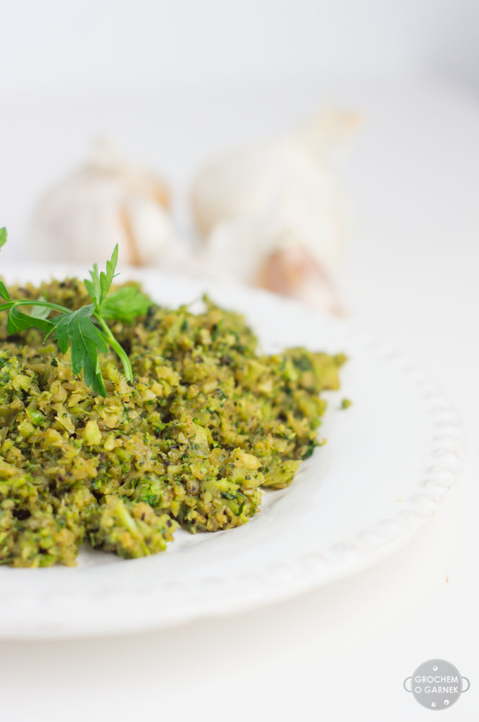 weganski i bezglutenowy obiad - ryz z brokula szybki i lekki obiad wegetariański