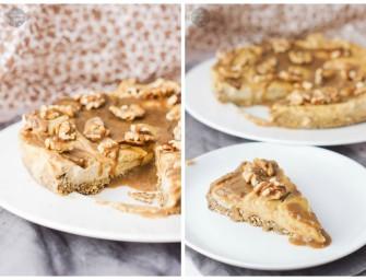Genialne jaglane ciasto z solonym karmelem i orzechami