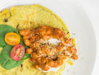 Zdrowe wegańskie śniadanie – Omlet z ciecierzycy