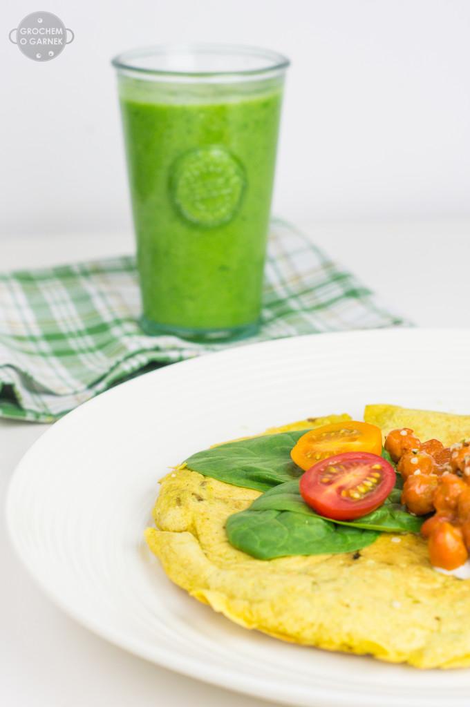 wegański omlet wegańskie zdrowe śniadanie